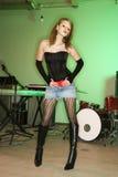 Fêmea com instrumentos imagem de stock royalty free