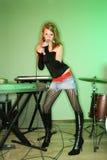 Fêmea de canto. fotos de stock royalty free