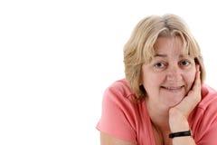 Fêmea de encontro ao branco Fotografia de Stock Royalty Free