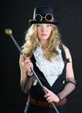 Fêmea de Steampunk. Fotografia de Stock