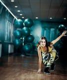 Fêmea do exercício da dança de Zumba fotografia de stock