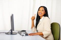 Fêmea executiva bem sucedida no trabalho Imagem de Stock Royalty Free