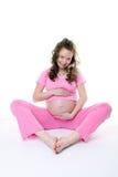 A fêmea grávida Fotos de Stock Royalty Free