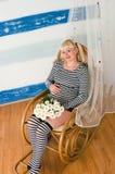 Fêmea grávida envelhecida média bonita fotografia de stock royalty free