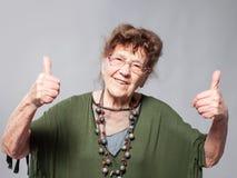 Fêmea idosa no estúdio Fotos de Stock