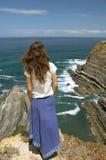 Fêmea longa marrom nova do caucasian do cabelo Imagem de Stock