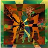 A fêmea mostra em silhueta a dança em um disco Imagem de Stock Royalty Free