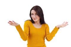 A fêmea não sabe o que fazer Imagem de Stock