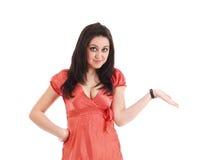 A fêmea não sabe o que fazer Imagens de Stock Royalty Free