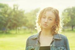 Fêmea na luz do sol Imagens de Stock