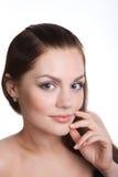 Fêmea no branco Imagem de Stock Royalty Free