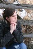 Fêmea no campo Foto de Stock