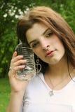 Fêmea nova com água Fotos de Stock