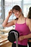 Fêmea nova com chapéu do traje. Imagens de Stock