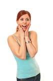 Fêmea nova surpreendida imagens de stock royalty free