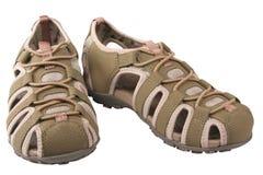 A fêmea ostenta sandálias Imagem de Stock