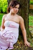 Fêmea 'sexy' moreno da senhora da menina da jovem mulher no vestuário formal Imagem de Stock Royalty Free