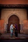 Fêmeas no Souks Imagens de Stock