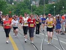 Fêmeas Running Foto de Stock