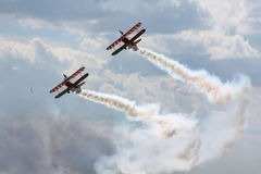 Fête aérienne avec de la fumée. Photo stock