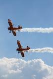 Fête aérienne avec de la fumée. Photos stock