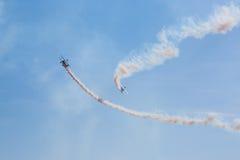 Fête aérienne avec de la fumée Image stock