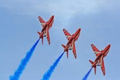 Fête aérienne rouge de flèches Image stock