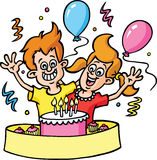 Fête d'anniversaire Illustration de Vecteur