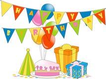 Fête d'anniversaire illustration libre de droits