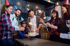 Fête d'anniversaire d'amis Image stock