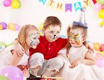 Fête d'anniversaire d'enfant. Image libre de droits