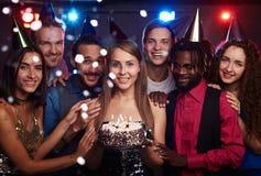 Fête d'anniversaire dans le club Photos libres de droits