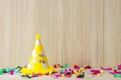 Fête d'anniversaire d'enfant installée pour l'espace de copie photo libre de droits