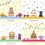 Fête d'anniversaire Table de fête de célébration Photographie stock libre de droits