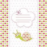 Fête de naissance avec l'escargot Images stock
