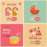 Fête de naissance Mini Postes Image libre de droits