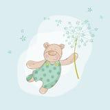 Fête de naissance ou carte d'arrivée Image stock