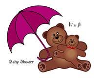 Fête de naissance Teddy Bears Image libre de droits