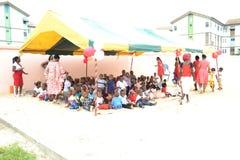 Fête de Noël à l'école Images libres de droits