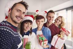 Fête de Noël au bureau Photographie stock