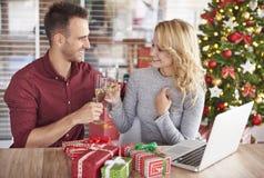 Fête de Noël au bureau Image stock
