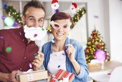 Fête de Noël au bureau photographie stock libre de droits