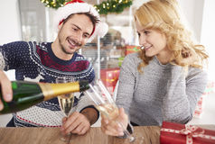 Fête de Noël au bureau Photos libres de droits