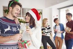 Fête de Noël au bureau Photo libre de droits