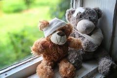 Fête des pères heureuse de nounours de jouet Photographie stock libre de droits