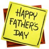 Fête des pères heureuse sur la note collante Image libre de droits