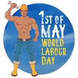 Fête du travail internationale Le premier de peut illustration libre de droits