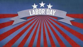 Fête du travail sur la bannière, quatrième de juillet, fond, élém. orientés des Etats-Unis Image libre de droits