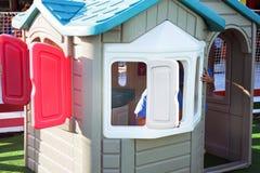 Fête foraine : maison en plastique Images stock