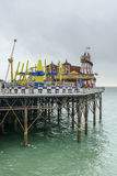 Fête foraine sur le pilier, Brighton Images stock